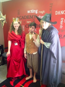 Director Hallie Harris is celebrating her birthday in royal syle at ACT.  Gandolf and Bilbo are loyal subjects!