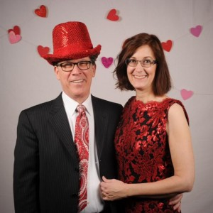 CBC president Rich Cummins and his wife enjoyed the photo booth, provided by Kim Fetrow Photography