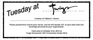 Tuesday at Twigs Academy of Children's Theatre 10-21